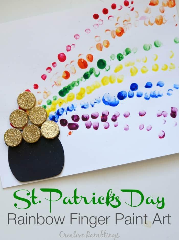 Rainbow Finger Paint St Patrick S Day Craft Creative
